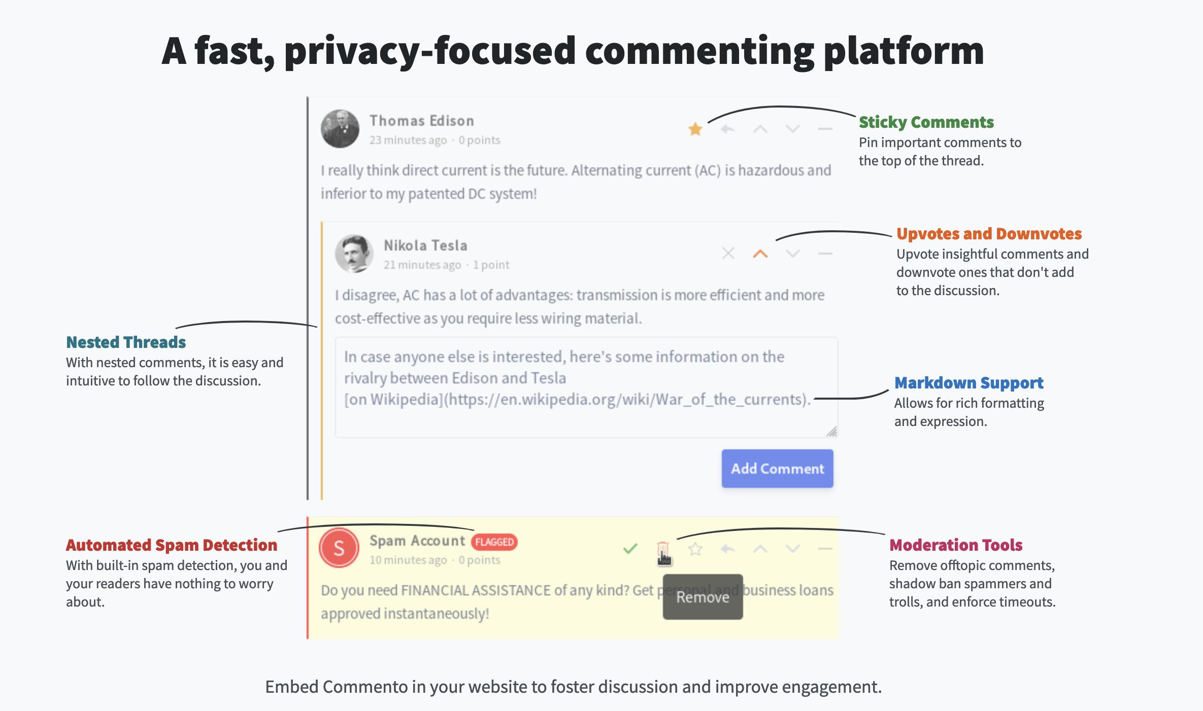 Commento -- Disqus alternative | Cloudron Forum